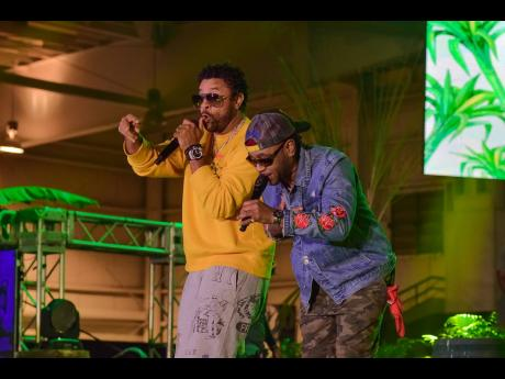 Shaggy was joined on stage by long-time friend and dancehall entertainer Rayvon.