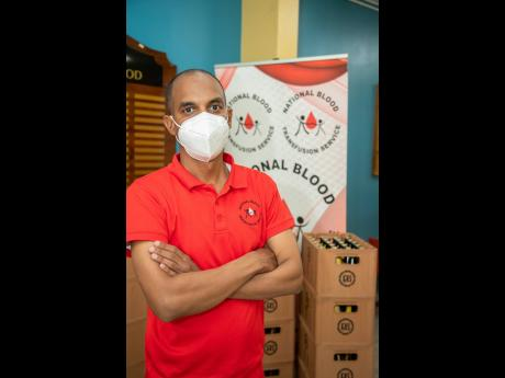 Blood donor organiser at the National Blood Transfusion Service, Igol Allen, is hoping for an increase in the number of blood donors.