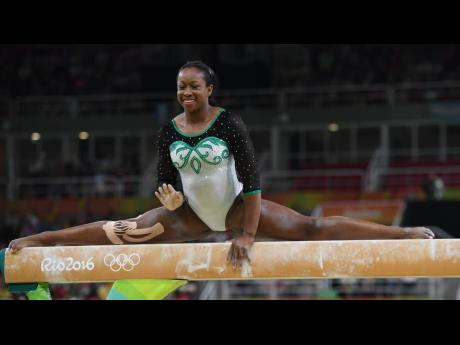 Jamaican gymnast Toni-Ann Williams competes at the 2016 Olympic Games in Rio de Janeiro, Brazil.