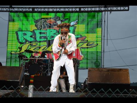 Bunny Wailer in performance at Rebel Salute 2014.