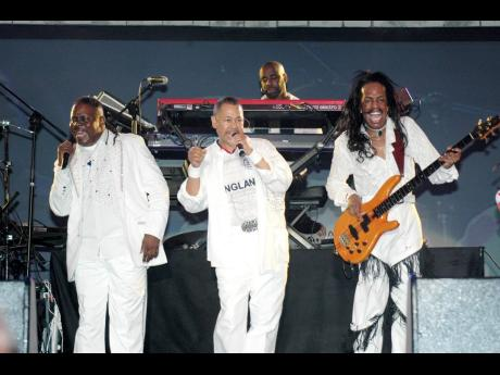Earth Wind and Fire during their performance on the final night of Air Jamaica Jazz and Blues Festival at the Aqueduct, in Montego Bay, St James.