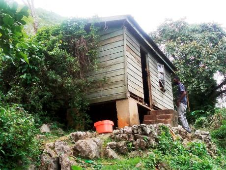 The house in which 78-year-old retired farmer Joyclyne Gordon lived in Breadnut Walk, St Elizabeth