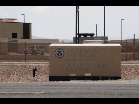 The entrance to the Border Patrol station in Clint, Texas.