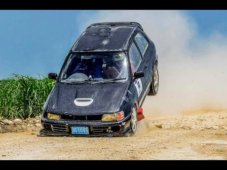 Thomas Hall takes a nosedive in his trusty Toyota Starlet.