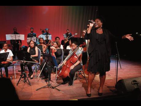 Tiffany Thompson is a soloist at a 2017 Classical and Jazz Ensemble concert.