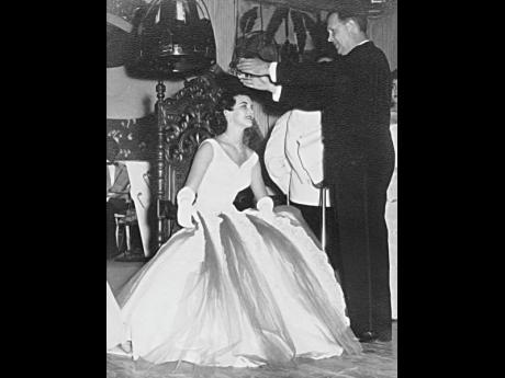 Marlene O'Brien, then  Milnes-Fenton is crowned  Miss Jamaica 1955.