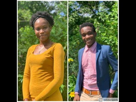 Recipients of a 2020-2021 education grant, Tudi-Ann Givans, a 17-year-old member of the Race Track community who commenced her bachelor's degree in social work at the Northern Caribbean University, and 20-year-old Randall Richards, pursuing a biochemistr