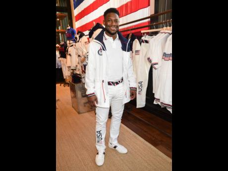 Daryl Homer, a silver medallist in sabre fencing at the 2016 Games, is hoping to make his third Olympic appearance. He was one of three Tokyo contenders to model the closing-ceremony  uniforms at the Polo Ralph Lauren store in Manhattan's SoHo district.