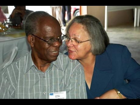Then custos of Manchester, Dr Gilbert Allen, is seen in a cosy moment with wife Georgia at the Kendal Conference Centre in the parish in 2007. Allen died on Thursday aged 92.