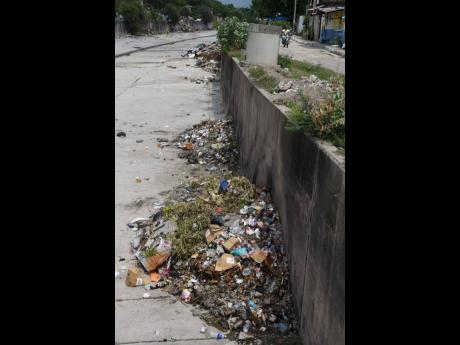 Garbage in the Sandy Gully dumped by residents of both Waterhouse and Drewsland is an eyesore. Residents say they are forced  to dump the garbage in the gully because  the garbage truck does not enter the communities often enough to clear the garbage.