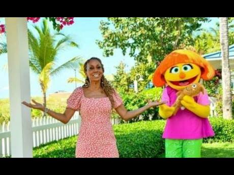 Holly Robinson Peete (left) and Julia at Beaches Resorts.