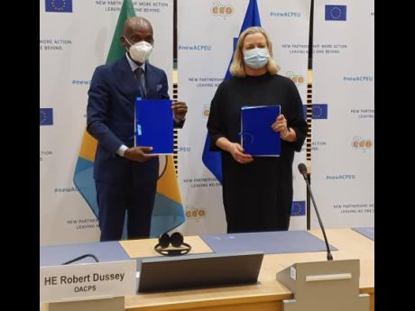 Lead negotiators, the OACPS's Minister Robert Dussey of Togo and EU Commissioner Jutta Urpilainen, initialled the text of the agreement  to signal that the negotiations were fully and formally concluded at a ceremony in Brussels on April 15.