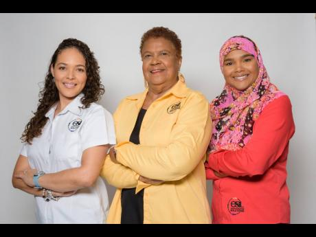 ESL Chairperson and CEO Eleanor Jones (centre) with directors Dr Theresa Rodriguez-Moodie (left) and Rashidah Khan-Haqq.