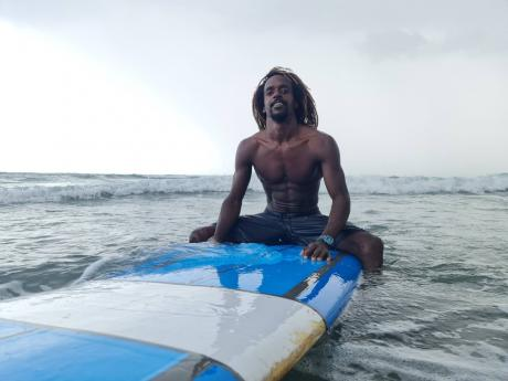 Icah spends most of his mornings surfing at Bull Bay.