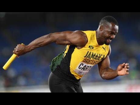 Nesta Carter, a member of Jamaica's 4x100m relay team looking to qualify for the Olympic Games in Tokyo, Japan, this summer.
