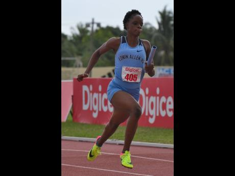 Edwin Allen High School sprinter Tina Clayton.