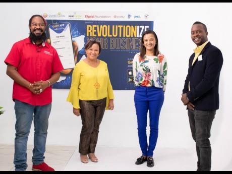 From left: Miguel Williams, community development manager, Digicel Foundation; founder of The Honey Bun Foundation Michelle Chong; General Manager of The Honey Bun Foundation Nashauna Lalah; and Christopher 'Johnny' Daley at the virtual launch of The H
