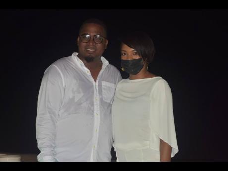 Birthday boy Dominic Shaw and Kimberly Raynor of Iberostar Resorts.