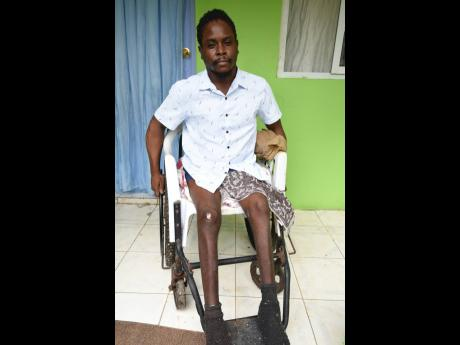 Randall Robinson, who was left crippled by a gunman's bullet near Ivy's Corner in August Town.