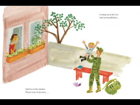 This photo, provided by Random House on Tuesday shows an interior spread from 'The Bench', the début children's book written by Meghan, the Duchess of Sussex, with illustrations by artist Christian Robinson.