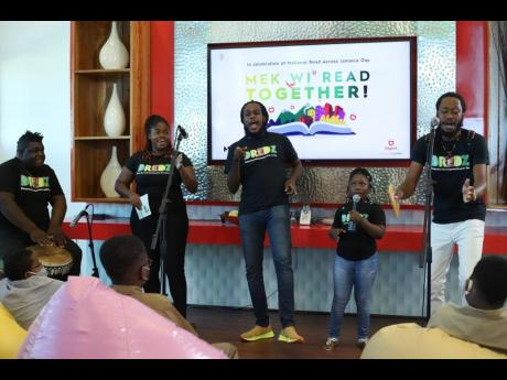 Dub poetry and reggae group DREDZ got the student audience energised as they demonstrated the power of the spoken word during their performance emphasising the importance of reading and education.