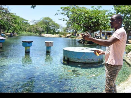 Tyron Wilson said that since the coronavirus shutdown, people who benefit from the Caymanas River turned to other trades like plumbing and welding to put food on their table. Wilson said that in the pre-pandemic era, the river would have been full of leisu
