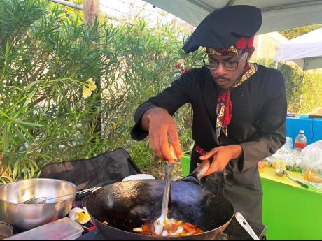 Local Chef Jermaine Wedderburn of Jerry's Jerk Joint brought the heat at the recent Sagicor Pro-Millennial Mentorship Society's 'Budget Bites: Gourmet Cook-Off'. He shared with the online audience of over 300 in attendance how easy it is to create