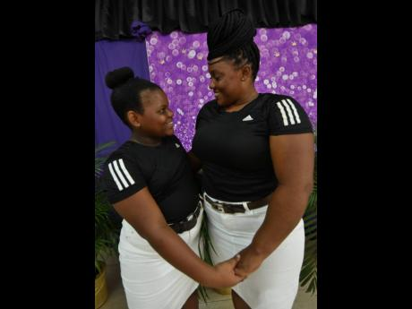 Jada Forrest and her mother, Stacyann Calvert, showed their love for each other during the prize-giving ceremony for a pre-Mother's Day competition at Waltham Park New Testament Church of God in Kingston.