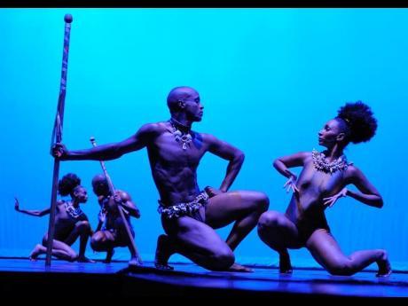 Marlon Simms in 'Sulkari', choreographed by Eduardo Rivero-Walker.