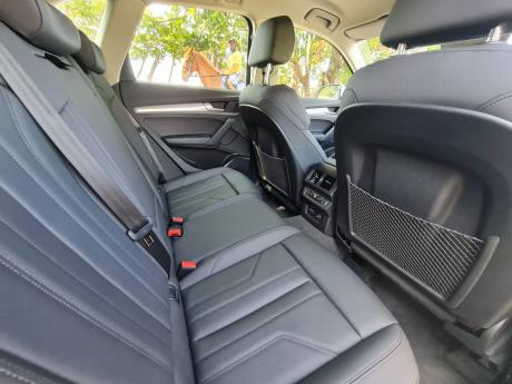 There's a 'leather-appointed' trim and three-zone climate control.