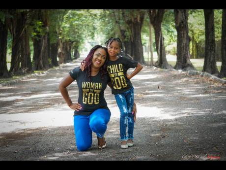 Crystal Daye and daughter Christelle.