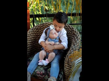 Britney Williams and Nikolas Silvera's children, Storm and baby Sadie.