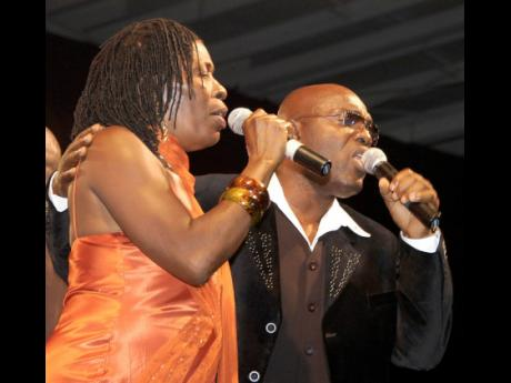 Richie Stephens performs with his mother, Mama Carmen, during the Take Me Away concert in May 2007. Stephens says, 'Every day is mother's day for me and my mom.'