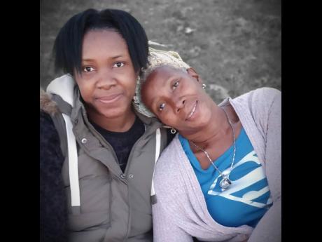 Jhaniele Fowler and mom