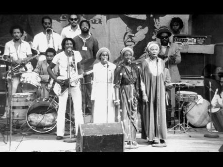 The I-Three (from left), Judy Mowatt, Rita Marley and Marcia Griffiths sang 'Rastaman Chant'.