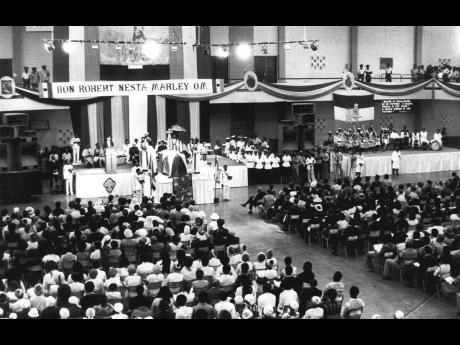 'Extraordinary' was one word used to describe the scene in the National Arena during the funeral  for Bob Marley.