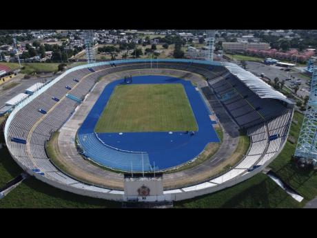 The National Stadium in Kingston, venue for matches in the Jamaica (?) Premier League this season.