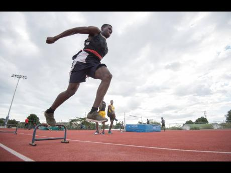 Jamaica College's Class One long and triple jumper Apalos Edwards.