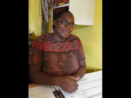 Angella Richards, who lives at Top Road in Mavis Bank, St Andrew.