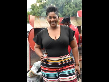 Cold brew in hand, Stacy-Ann Smith, brand and corporate PR manager at Red Stripe, represented for the brand.