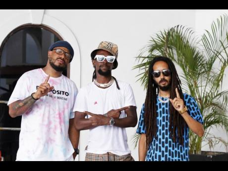 Panamanian entertainer Karims (left) and producer DJ Chiqui Dubs (right), recently visited the island, and on their to-do list was the completion of a project with Jah Cure.