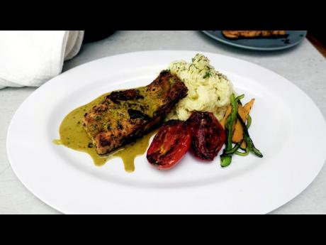 Curry-blackened salmon, anyone? Yes, please!