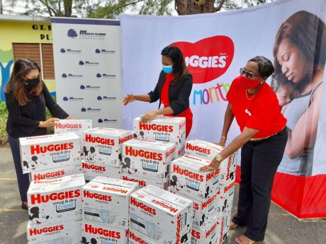 T.Geddes Grant, Huggies and the Musson Foundation recently donated a total of 340 cases of diapers, valued at approximately $1.14 million, to three children's homes across the Corporate Area. Tanisha Morrison, trade relationship manager, T. Geddes Grant,