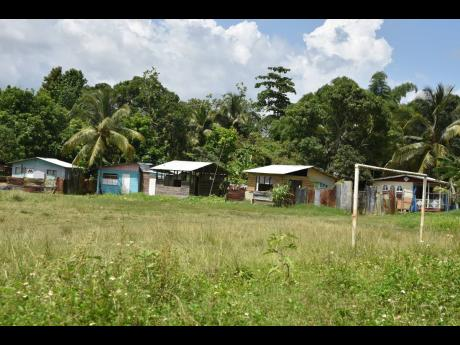 Squatters have captured the community playing field at Mint Road in Grange Hill, Westmoreland.