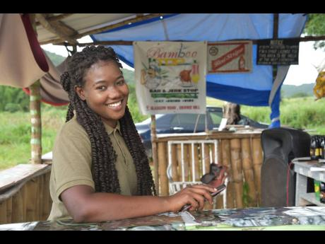Twenty-two-year-old Sherece Forrester has opened a bar in her Grange Hill community. She would like to see more opportunities in the area for the youth to develop their skills and land jobs.