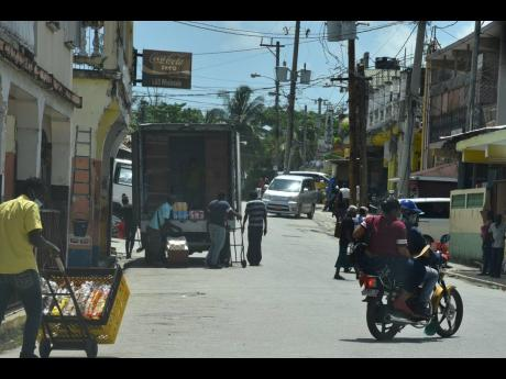 A buzz of commercial activity in a section of Grange Hill, Westmoreland.
