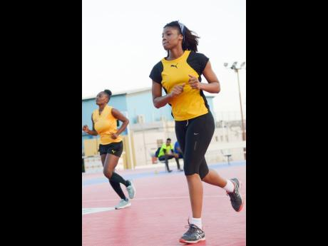 Jamaica's Sunshine Girls during a training session at the Leila Robinson Courts in Kingston on Wednesday, June 5, 2019.