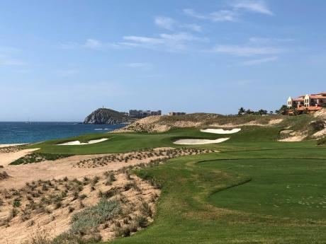 The Cabo Del Sol's Ocean Course appears along the Sea of Cortez in Cabo San Lucas, Mexico, on February 22, 2020. Cabo Del Sol and the other 17 courses at the tip of Baja California are coming back to life as the coronavirus pandemic begins to ease.