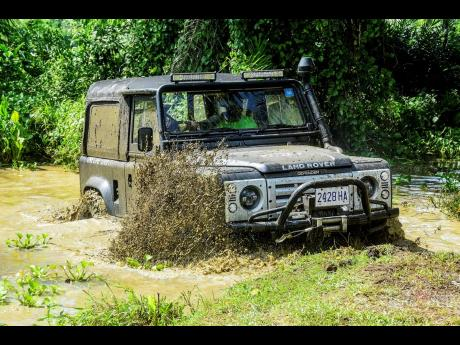 A Land Rover in its natural habitat.