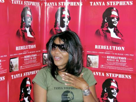 Tanya Stephens attends a 2006 meet-and-greet for her album, 'Rebelution'.
